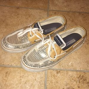 Woman's Sperry top-sider sparkly shoes